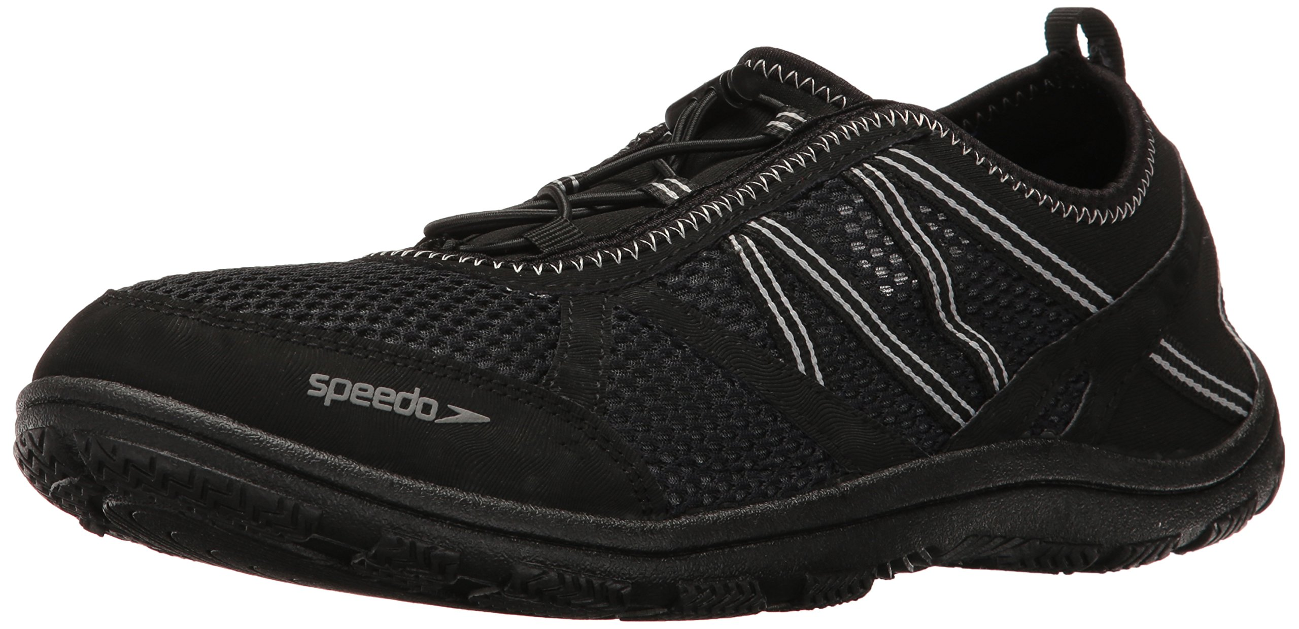 5e0413f384328 Speedo Men's Seaside Lace 5.0 Athletic Water Shoe, Black/Black, 11 C/D US