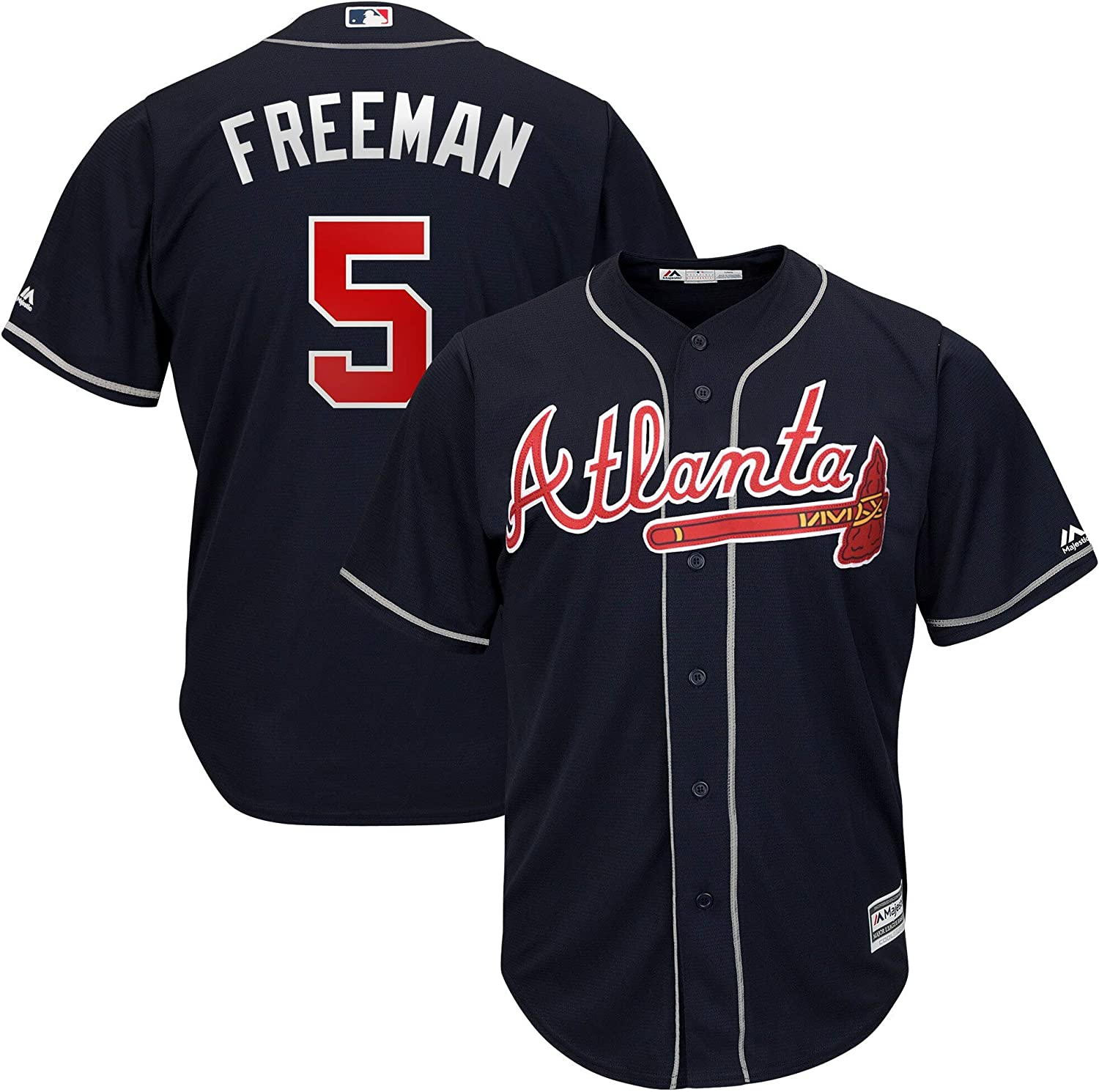 Freddie Freeman Atlanta Braves Kids 4-7 Navy Alternate Cool Base Player Jersey