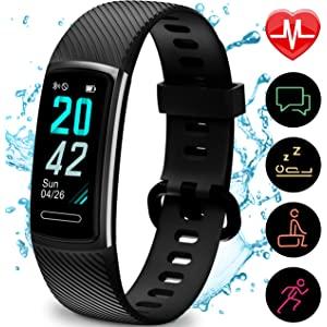 Updated Version High-End Fitness Trackers HR, Activity Trackers Health Exercise Watch with Heart Rate and Sleep Monitor, Smart Band Calorie Counter, Step Counter, Pedometer Walking for Men & Women