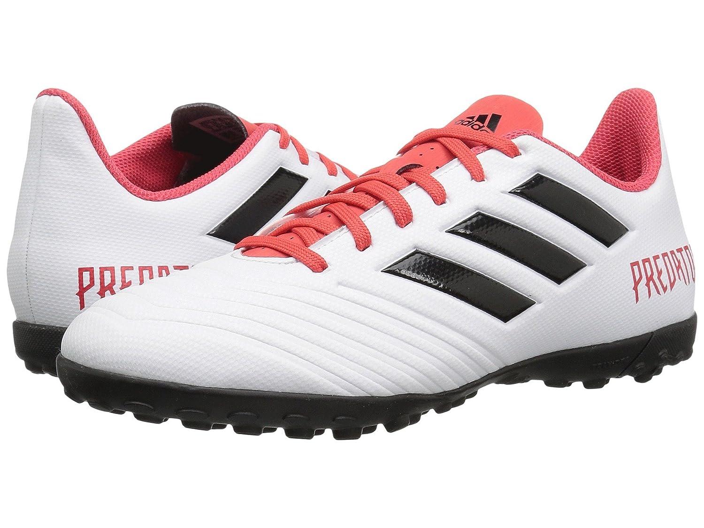 (アディダス) adidas メンズサッカーシューズ靴 Predator 18.4 Turf White/Black/Real Coral 9.5 (27.5cm) D Medium B07BQQTWV8