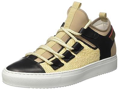 Bd0704, Sneakers Basses Femme - Multicolore - Multicolore (Beige/Nero), 36 EU (3 UK)Barracuda