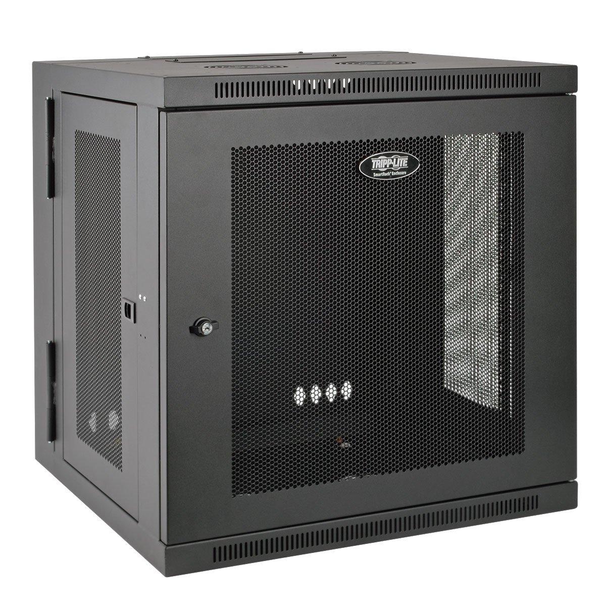 Tripp Lite 10U Wall Mount Rack Enclosure Server Cabinet, Hinged, 20.5'' Deep, Switch-Depth (SRW10US)