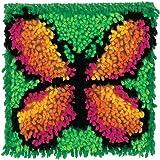 """Wonderart Butterfly Latch Hook Kit, 8"""" X 8"""""""