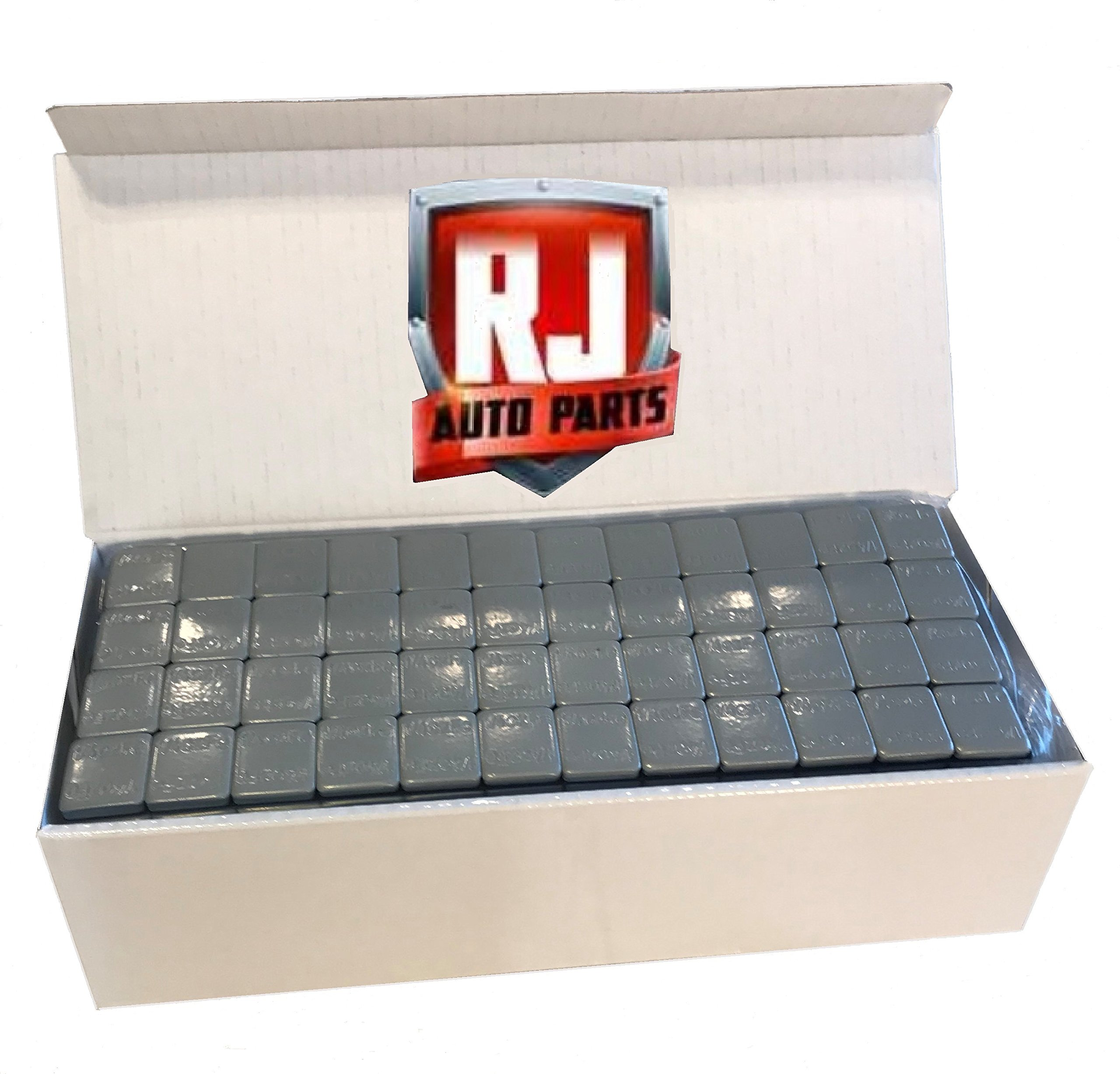 6 Boxes Wheel Weights, Grey .25 oz. Stick-On Adhesive Tape, Lead Free (54 lbs) 3456 Pieces by RJ Auto Parts