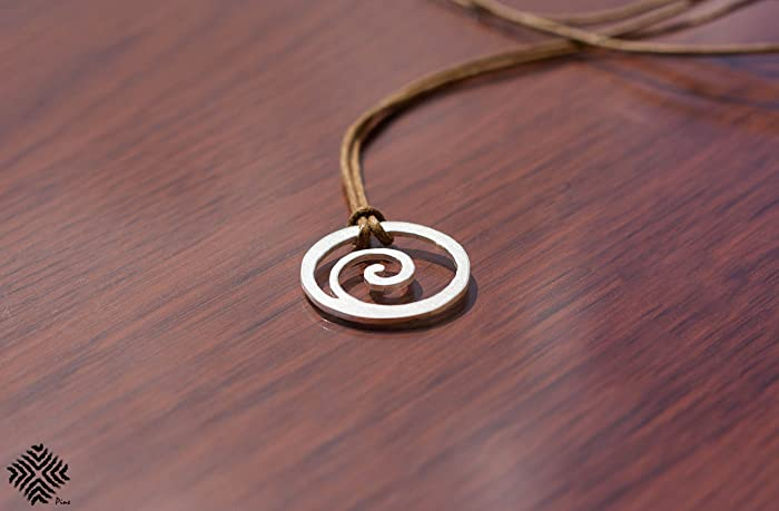 Amazon Koru Symbol Silver Handmade Necklace Maori Warriors