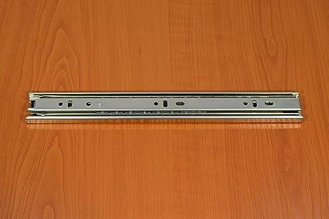 2 x SOFT-CLOSE Schubladenschienen Vollauszug Schubladenauszug Stahl Verzinkt 35 x 400 mm Teleskopschienen