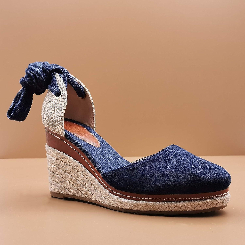 Angkorly Chaussure Mode Sandale Espadrille Boh/ème Hippie Casual Femme Corde avec de la Paille La/çage Talon Compens/é 9 CM