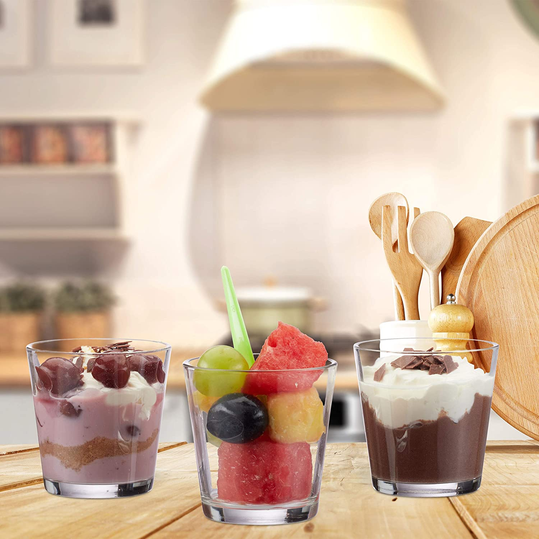 Gl/äser f/ür Dessert Tischdeko konisch Votivgl/äser Teelichtgl/äser 7,5 cm /Ø Gastgeschenk klar Relaxdays 24 x Teelichtglas