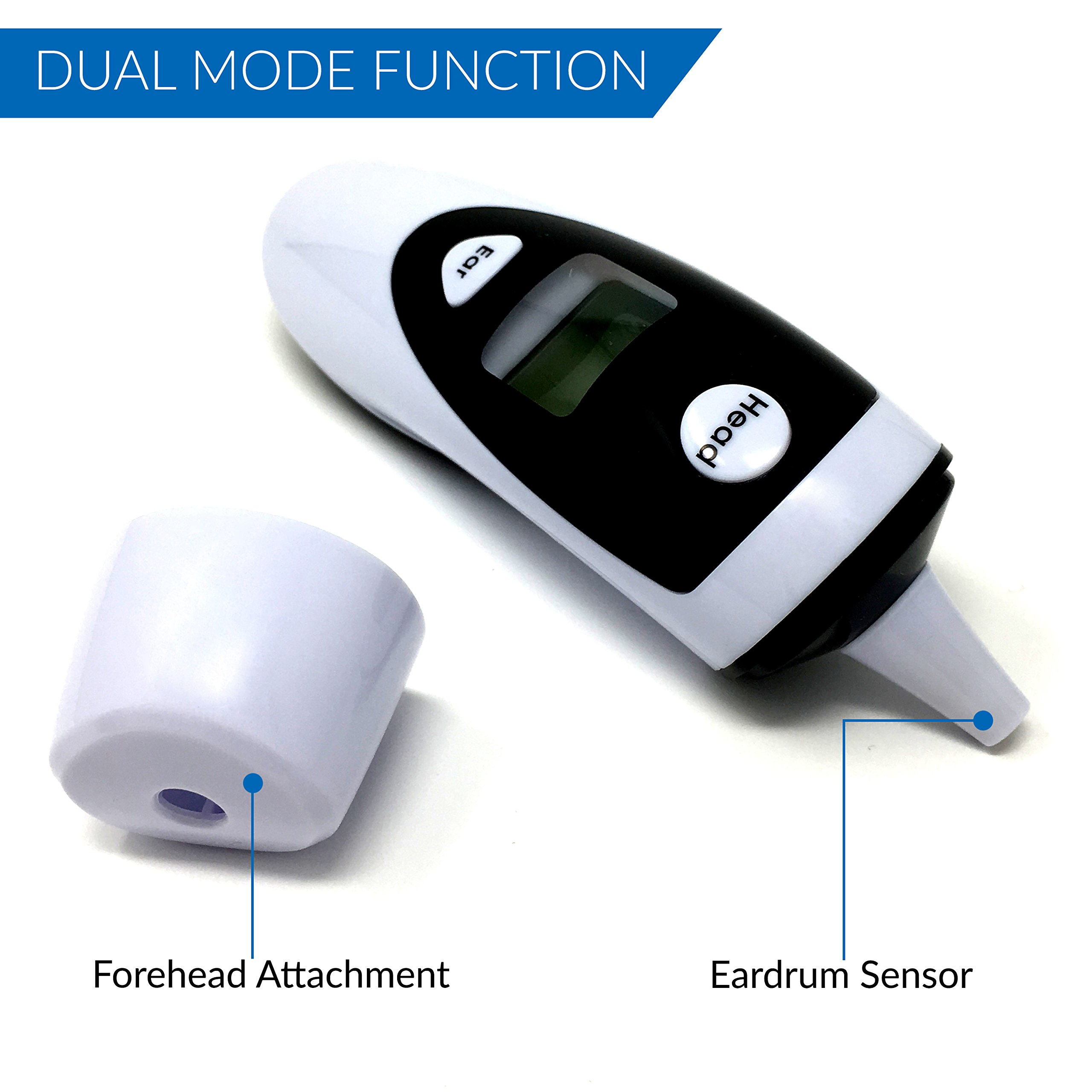 Champion IR - Medical Ear Thermometer With Forehead Function - Infared Technology & LCD Screen For Improved Accuracy by Champion IR (Image #3)