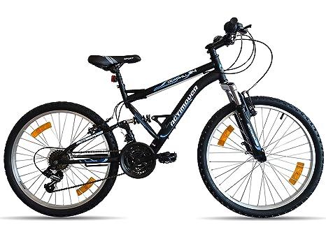 Vélo Bicicleta de montaña de 24 Pulgadas con suspensión Completa ...