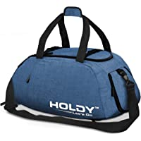 Holdy Sports Gym Bag with Shoes Compartment - Waterproof Travel Duffel Bag Wet Pocket for Men and Women Vibrant Sturdy…