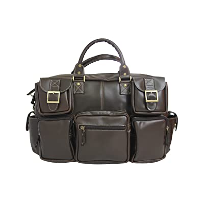 8 Pocket Briefcase, Leather Briefcase, Soft Napa Leather,