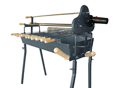 Amazon.com : Bbq Grill Rotisserie Charcoal Cyprus Cypriot Rotating Motor Barbeque / Greek Barbecue Churrasco Asado Barbacoa Parrillada : Home And Garden ...
