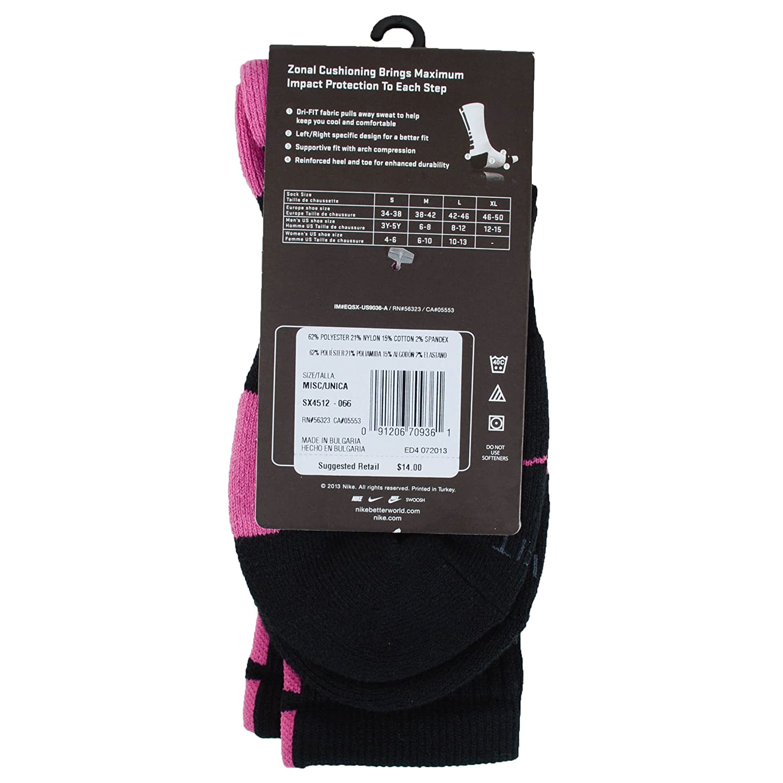 bbcc96530a2a Nike Kay Yow Elite Crew Basketball Socks Black Pink Size Socks Medium 6-8   Amazon.co.uk  Sports   Outdoors