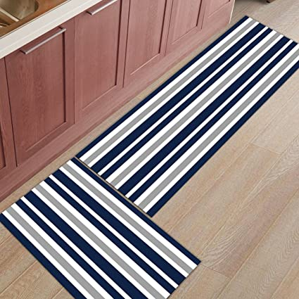 Amazon.com: Z&L Home 2 Pieces Kitchen Rugs and Mats Non Slip ...
