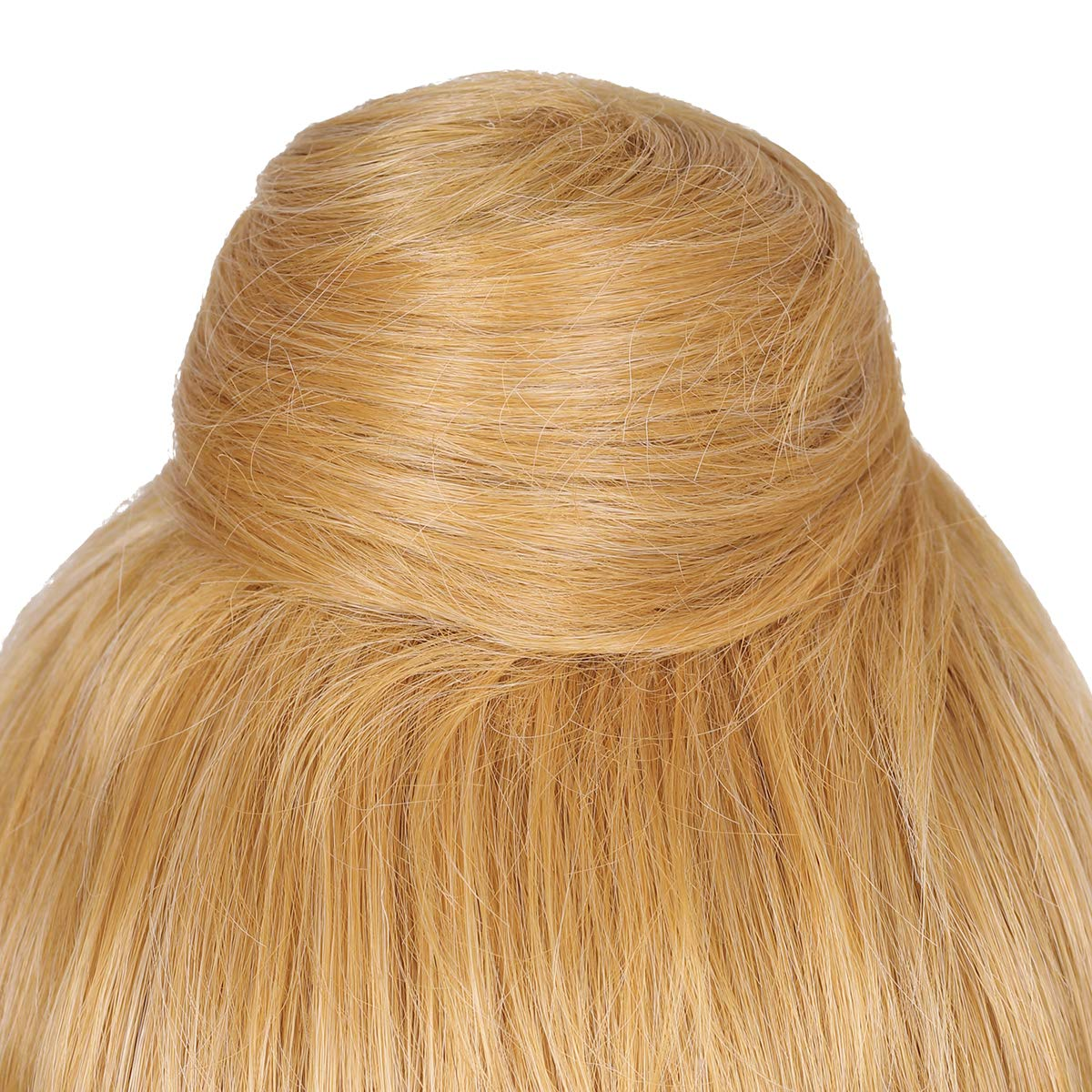 ColorGround Women/'s Long Wavy Brown Prestyled Cosplay Costume Wig with Detachable Bun