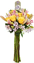 Hallmark Flowers Enchantment Bouquet (27-Stems including Roses and Peruvian Lilies), No Vase