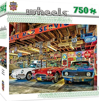 Masterpieces Wheels COLLECTOR/'S GARAGE 750 piece jigsaw puzzle NEW IN BOX