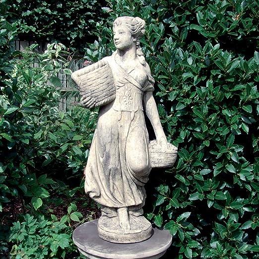 Estatua del jardín - campesina (medio) Escultura de piedra: Amazon.es: Jardín