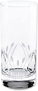 Lorren Home Trends Crystal Etched High Ball Glass (Set of 6), One Size, Clear