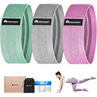 Meteor Essential Elastic Fabric Squat Bands, Resistance Loop Set, Fabric Fitness Bands with Anti-Slip Silicone Weaving…