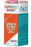 Cutered Sport Crema Arnica Extra Potenziata 20% 50ml • Sovraccarico muscolare • Traumi • Contusioni • Stiramenti • Strappi • Dolori