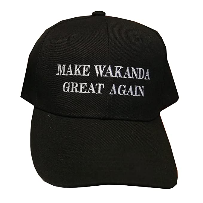 bc91c8e7d99 iApparel Make Wakanda Great Again Black Cap at Amazon Men s Clothing ...