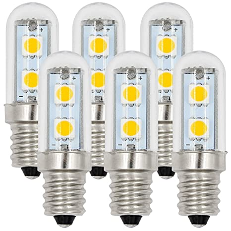 MENGS® Pack de 6 anti-rayo nevera Bombillas LED E12 1W AC 220-240V ...