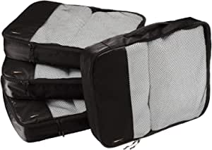 AmazonBasics 4-Piece Packing Cube Set - Large, Black