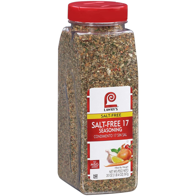 Lawry's Salt Free 17 Seasoning, 20 oz : Salt Substitutes : Grocery & Gourmet Food