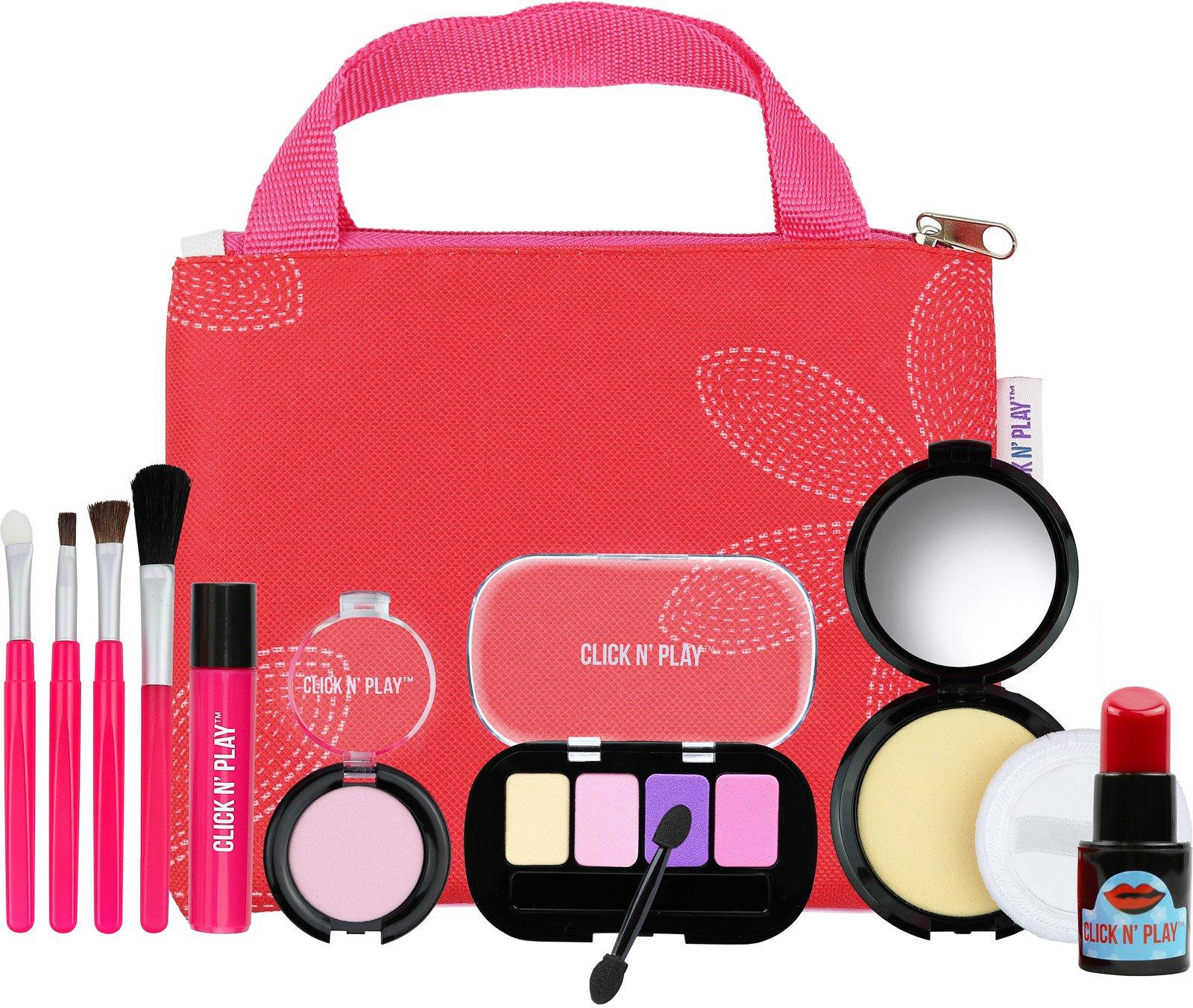 Click N' Play Pretend Play Cosmetic & Makeup Signature Essential Bag Set