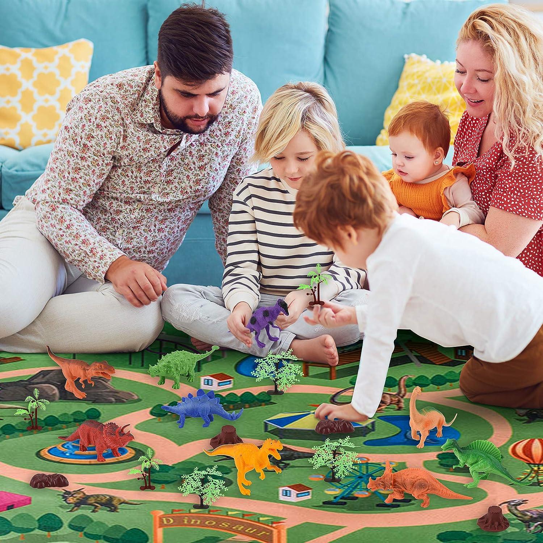Geschenke Junge Dinosaurier Spielzeug ab 3 6 8 Jahre Junge m/ädchen Jurassic World Spielzeug f/ür Kinder WEARXI Dinosaurier Spielzeug Indominus Rex Dinosaurier Figuren spielmatte Dino Spielzeug
