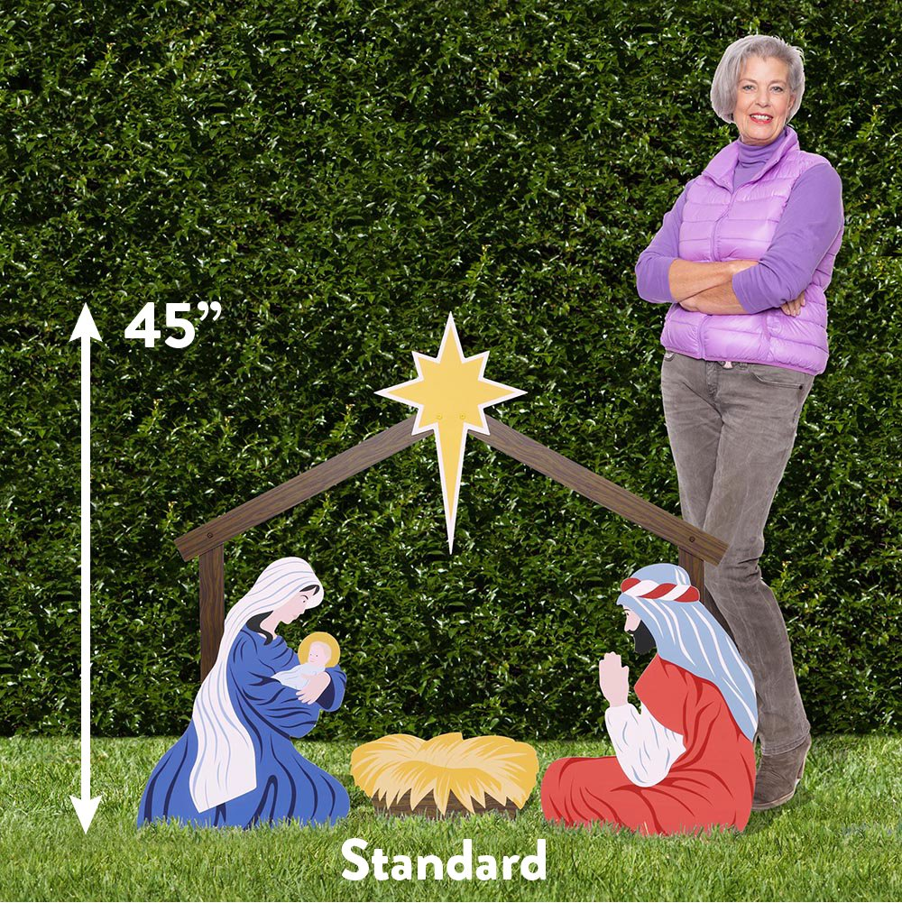 Outdoor Nativity Store Holy Family Outdoor Nativity Set (Standard, White) by Outdoor Nativity Store (Image #2)