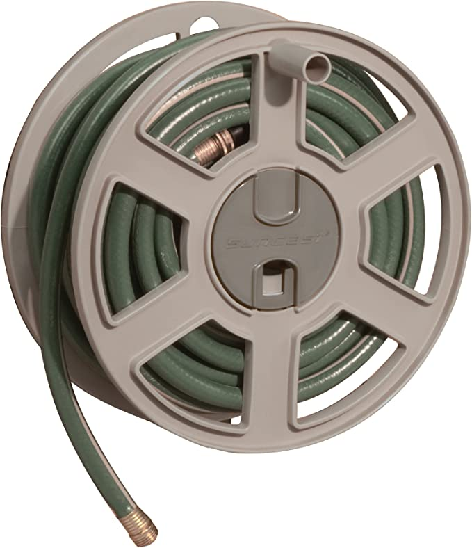 Suncast Hose Wall Mounted with Removable Reel - Fully Assembled