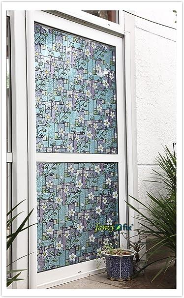 Film décoratif statique réutilisable en vinyle pour fenêtre Effet ...