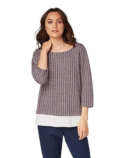 TOM TAILOR für Frauen Strick & Sweatshirts Pullover mit Underlayer
