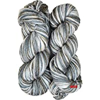 M.G Enterprise Grey Mix Wool Ball Hand Knitting Wool/Art Craft Soft Fingering Crochet Hook Yarn, Needle Acrylic Knitting Yarn Thread Dyed