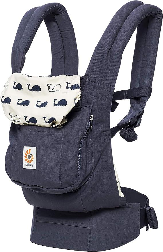 حامل أطفال أمامية وخلفية من إيرجوبيبي، حقيبة ظهر مريحة مسامية للأطفال – لون أسود