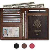 RFID Blocking Leather Passport Holder For Men and Women - Brown