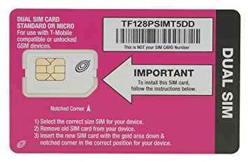 Straight Talk SIM Card For T Mobile Or Compatible GSM Phones REGULAR SIZED