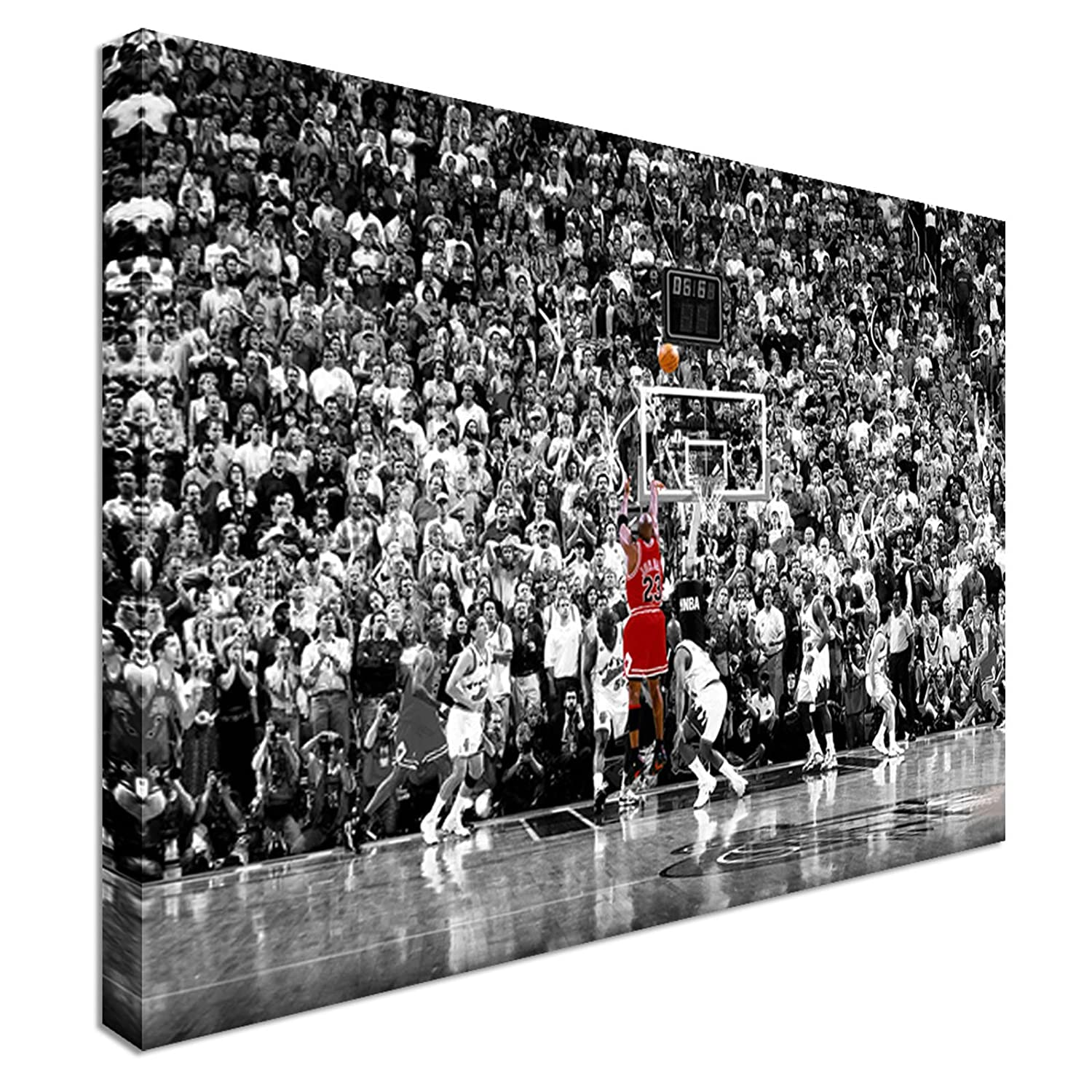 High Quality Michael Jordan BA Basketball Last Shot   Canvas Print Sport Giant Wall Art  12x16 Inches: Amazon.co.uk: Kitchen U0026 Home