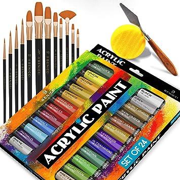 Set completo de pintura acrílica - 24х ricos colores pigmento - 12 ...