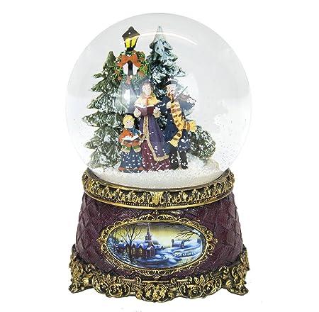 Victorian Christmas Snow Globe Carol Singers Musical Amazon Co Uk