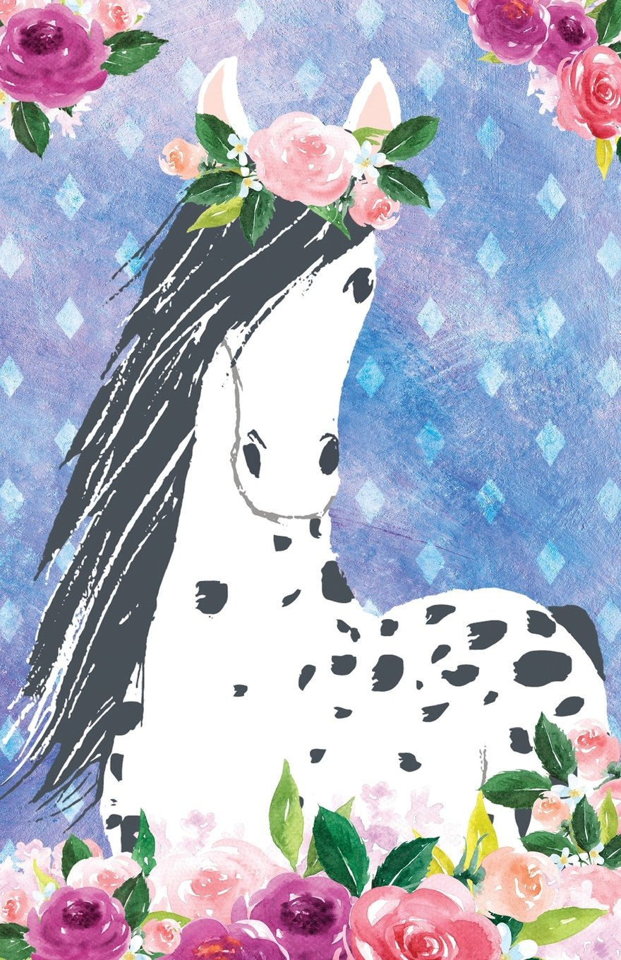 Bullet Journal For Horse Lovers Appaloosa In Flowers: Graph
