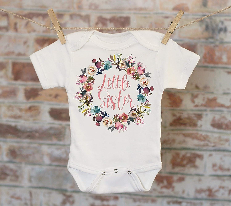 Boho Baby Onesie 412B Girl Onesie Cute Baby Bodysuit Big Sister Rustic Rose Wreath Onesie\u00ae Cute Onesie Sibling Onesie