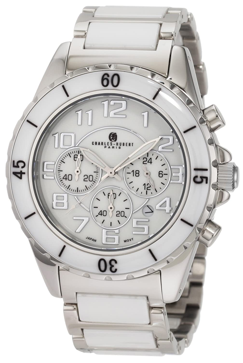 Genuine Ceramic and Stainless Steel Chronograph Quartz Armbanduhr