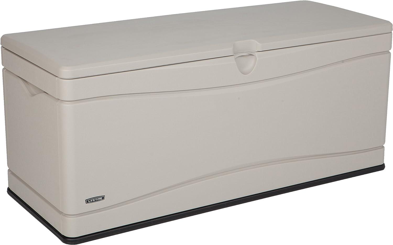 Lifetime 60040 Deck Box, 130 Gallon, Desert Sand