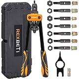 REXBETI 14' Rivet Nut Tool, Professional Rivet Setter Kit with 7 Metric & Sae Mandrels and 60pcs Rivnuts, Labor-Saving…