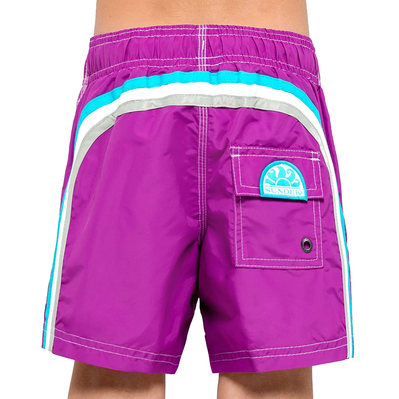 10 Long Sundek Classic Boys Shorts with Rainbow ON The Back