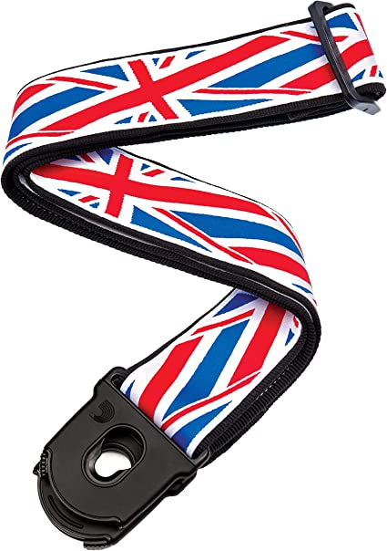 Woven Union Jack Planet Lock Guitar Strap D/'Addario Planet Waves 50PLA11